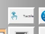 Bouton pour activer ou désactiver le mode tactile